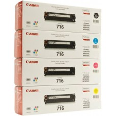 Compatible Canon 716 Laser Toner Cartridge 4 Color Multipack